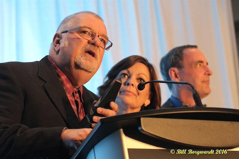 Doug Veronelly, Robyn Adair & Dan Carson - The Odd Squad - Country 105 - Presenters - ACMA Awards Show 2016