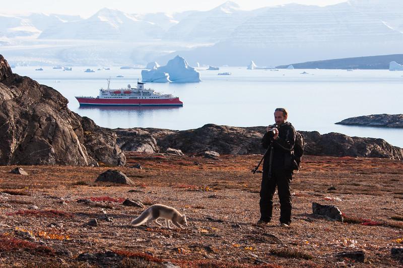 Alistair with Arctic Fox