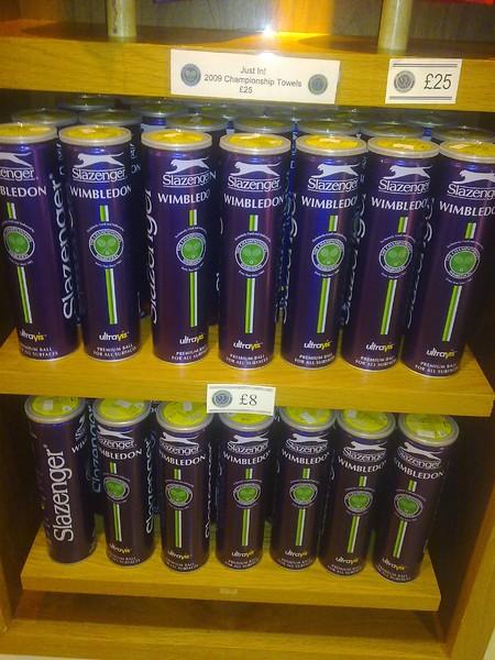 Wimbledon Slazenger balls