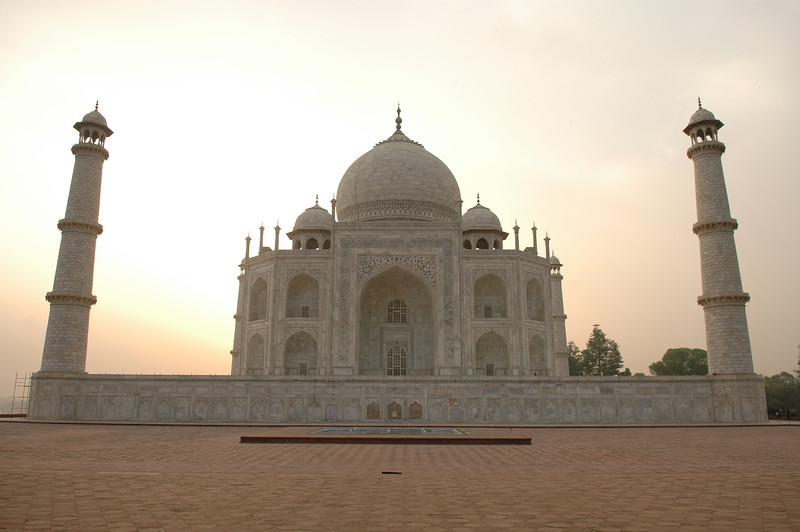 Agra: sunrise at the Taj Mahal.