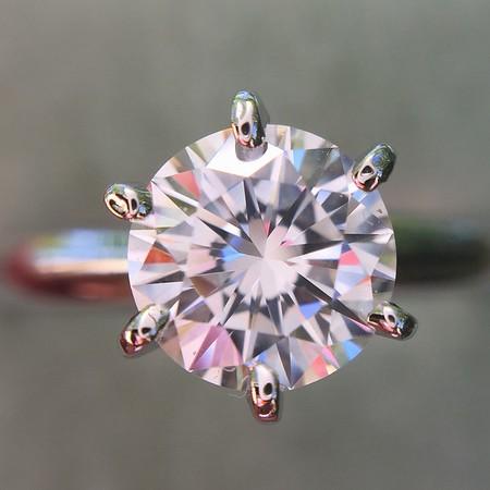 1.01ct Round Brilliant Diamond Ring GIA F VS2