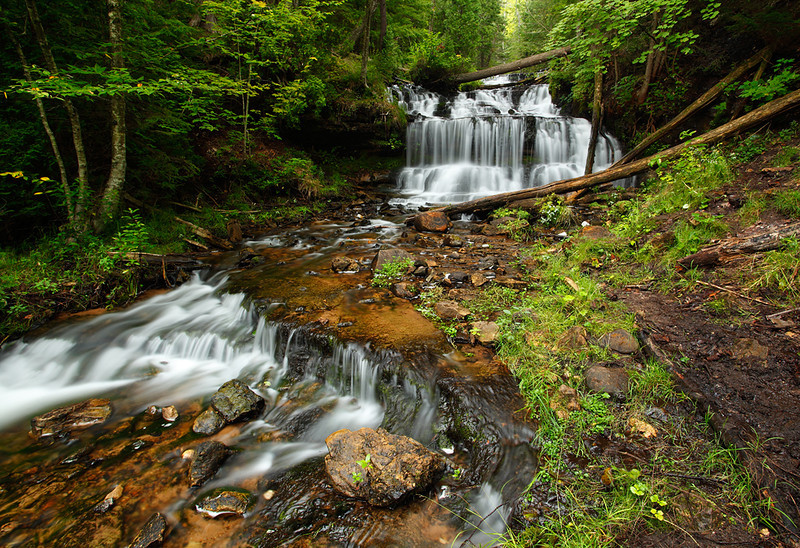Conjoint Fall - Wagner Falls (Wagner Falls Scenic Site - Munising, MI)