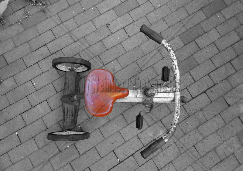 Bike Seat - Not that long ago that either she was pedaling or I was; it didn't matter who was where, we always took turns. One of us standing with small sweaty palms on the shoulders of the one pedaling. Both of us with baby fine cottony blonde hair blowing back gathering knots while cooling our necks. We were almost as one with the same goals, joys and laughter. We reeled with the delight of our adventure riding up and down our little street. Then one of us got left behind in the darkness.