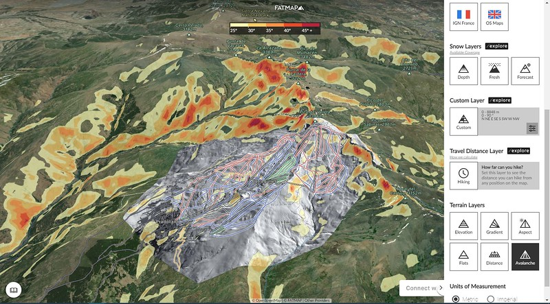 Vista 3D de Sierra Nevada en FATMAP