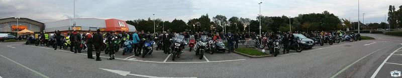 West Sussex bikers ride of respect shoreham