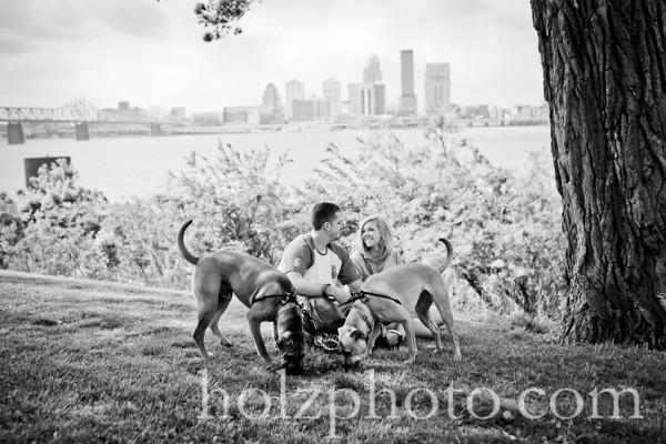 Casey and Joe B/W Engagement Photos
