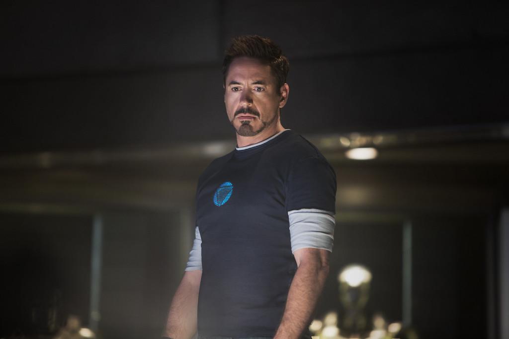 ". \""Marvel\'s Iron Man 3\"" Tony Stark/Iron Man (Robert Downey Jr.)  Zade Rosenthal © 2012 MVLFFLLC.  TM & © 2012 Marvel.  All Rights Reserved.  Provided by Walt Disney"