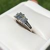 1.15ctw Emerald Cut Diamond Trilogy Ring 11