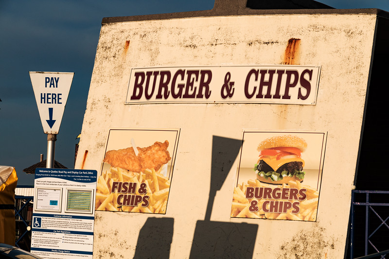 Burger and Chips Pay Here