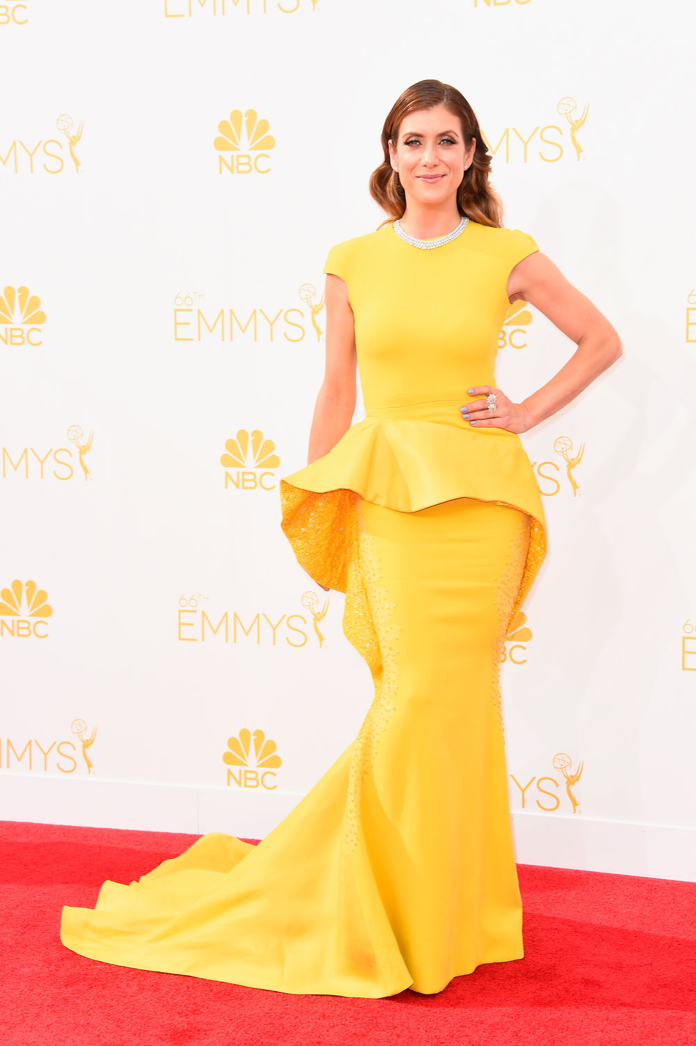 . Actress Kate Walsh attends the 66th Annual Primetime Emmy Awards held at Nokia Theatre L.A. Live on August 25, 2014 in Los Angeles, California.  (Photo by Frazer Harrison/Getty Images)
