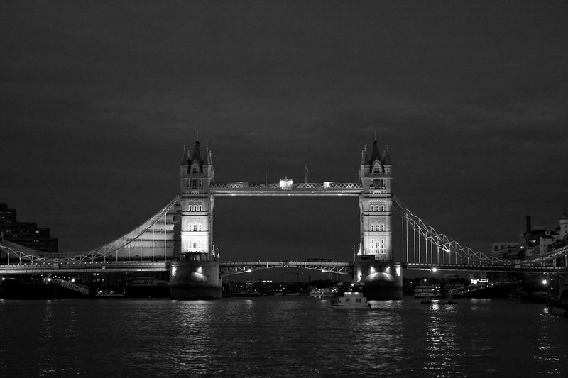 Tower Bridge from water level