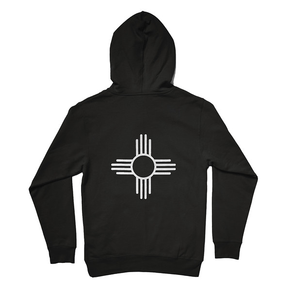 Organ Mountain Outfitters - Outdoor Apparel - Outerwear - Zia Sun Symbol Pullover Hoodie - Black Back.jpg