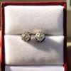 1.73ctw Georgian Peruzzi Cut Diamond Collet Stud Earrings 11