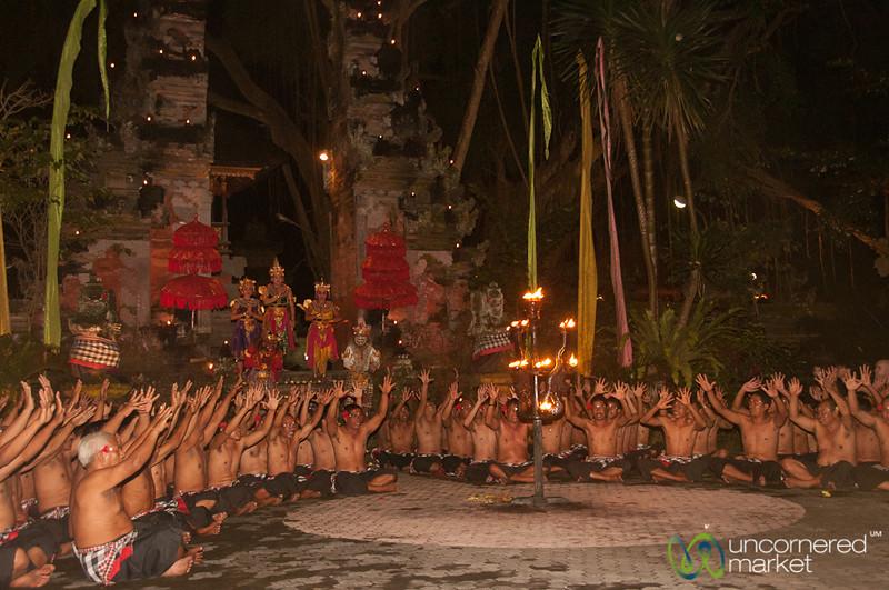 All Performers of Kecak Show - Ubud, Bali