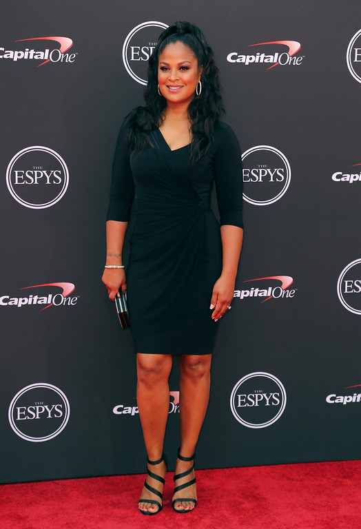. Former boxer Laila Ali arrives at the ESPY Awards at Microsoft Theater on Wednesday, July 18, 2018, in Los Angeles. (Photo by Willy Sanjuan/Invision/AP)