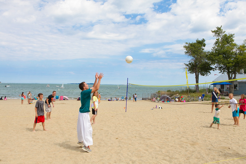 Volleyball was one of the many activies going on from 10am-6pm at Gray's beach during the KBA !st Annual Waterfront Festival held last Saturday.  Wicked Local Photo/Denise Maccaferri