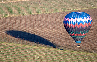 hot air balloon, of and from