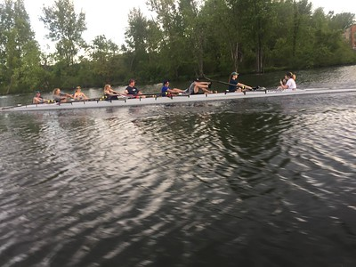 Final practice & HS boathouse cleanup, May, 2017