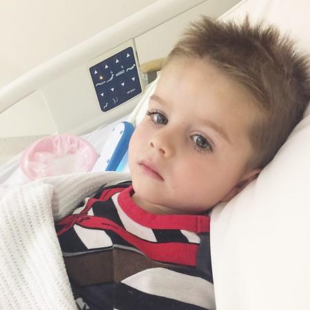 Toby goes to hospital with Meningitis!