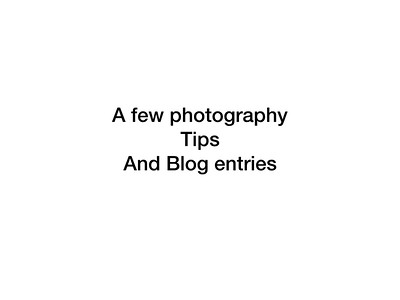 Photo Blog and tips