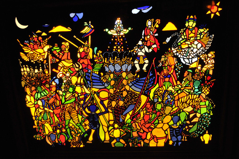 Stained glass creation by Pushpendra Singh