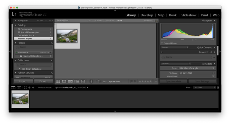 Starting with Lightroom: In this tutorial I will give you a first introduction into Adobe ® Lightroom Classic CC. From importing your first photo to the very first steps of post-processing.