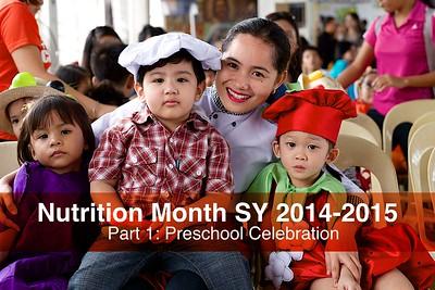 Preschool Nutrition Month 2014-2015