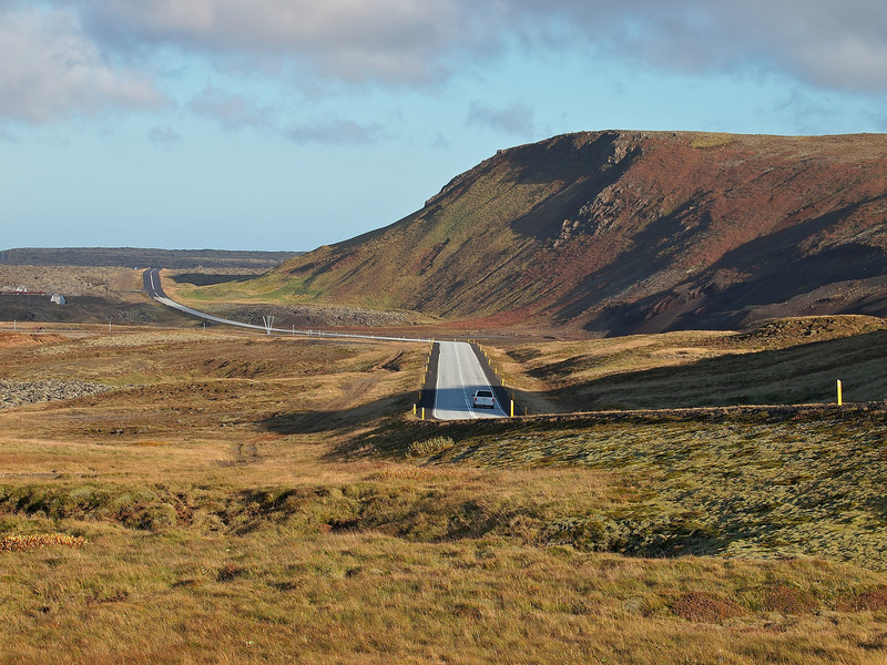 The road from Grindavik to the Blue Lagoon. Pulled over to grab a few shots of the geothermal power plant and the road bisecting the stunning scenery was a must shot.