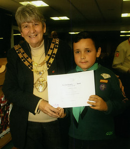 2012-11-07 Chief Scout's Silver Award