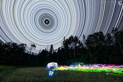 Neon Star Trails