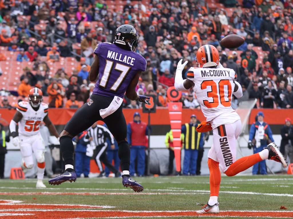 . Tim Phillis - The News-Herald Photos from the Browns-Ravens game Dec. 17, 2017, at FirstEnergy Stadium in Cleveland.