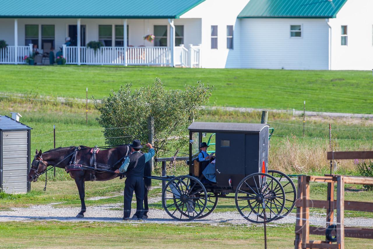 Amish family in Mio, Michigan