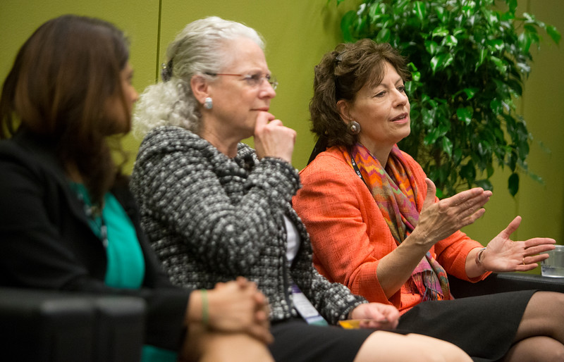 Speakers and attendees during Work-Life Balance for Women session in the Women's Networking Center