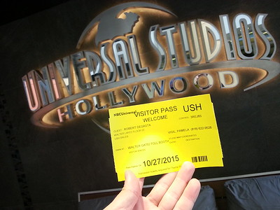 2015 1027 Rob's First Day and week at Universal