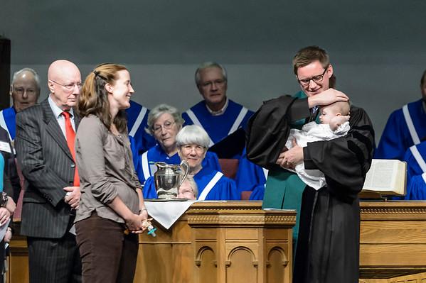 Baptism, Matt Straub's Granddaughter 10-19-2014