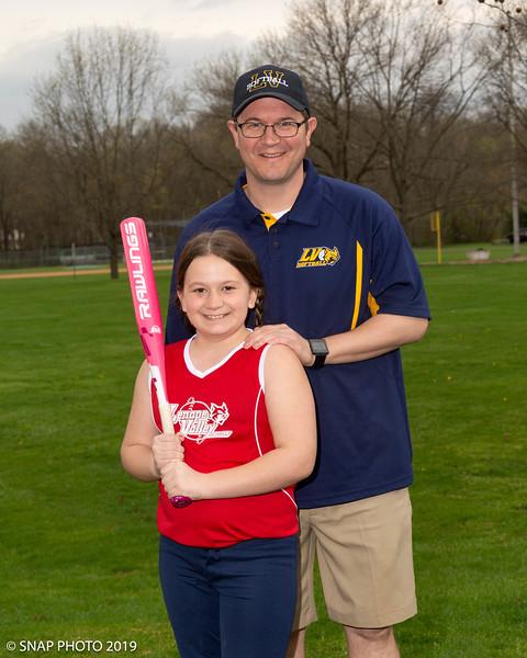 2019 Lenape Valley Girls Softball Coach-Player Shots