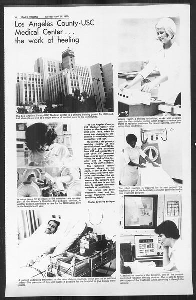Daily Trojan, Vol. 61, No. 114, April 28, 1970