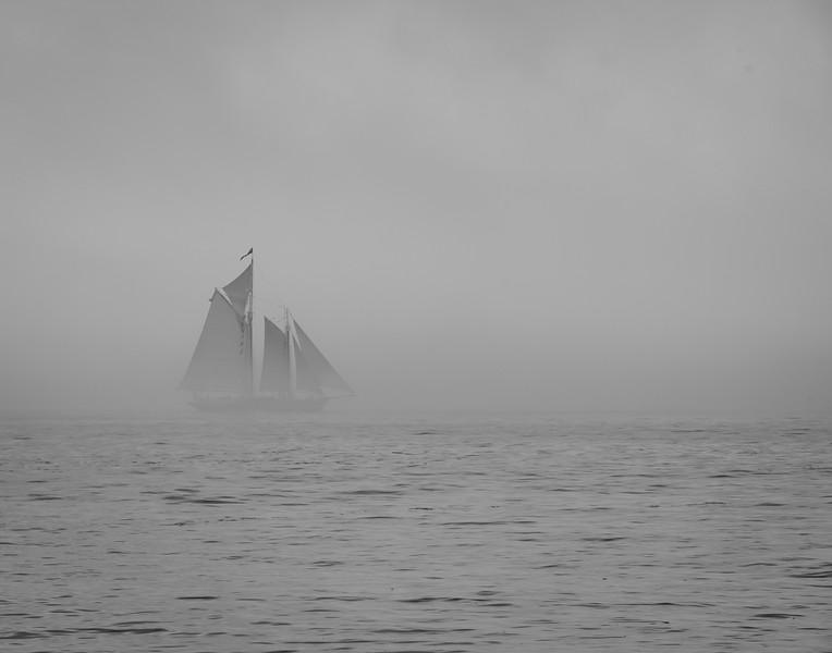 Ship thru the mist