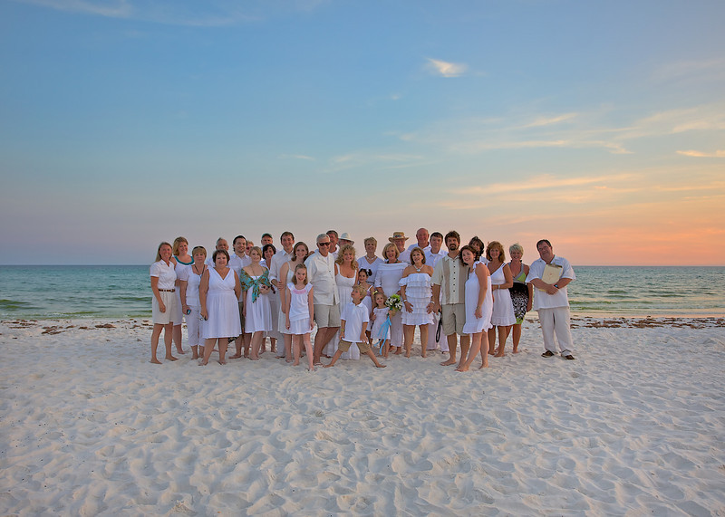 """The Gang"" at Scott and Kelly McBride's re-Wedding / Renewal of their Wedding Vows at Panama City Beach, Florida, June 2010......."