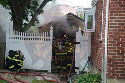 East Meadow F.D. Garage Fire 2193 Bright Ave. 8/6/09
