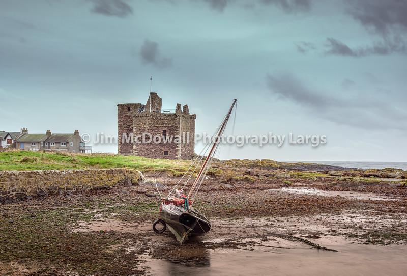 Portencross Castle and Yacht on its side-0372-Edit.jpg