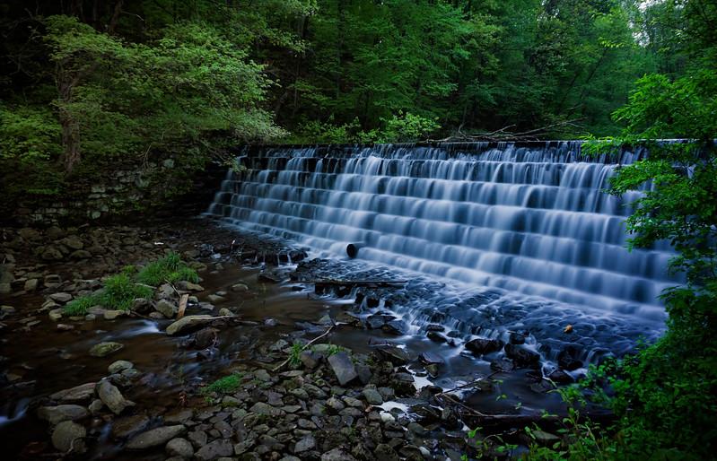 waterfall - small dam Antieham Reservior (p).jpg