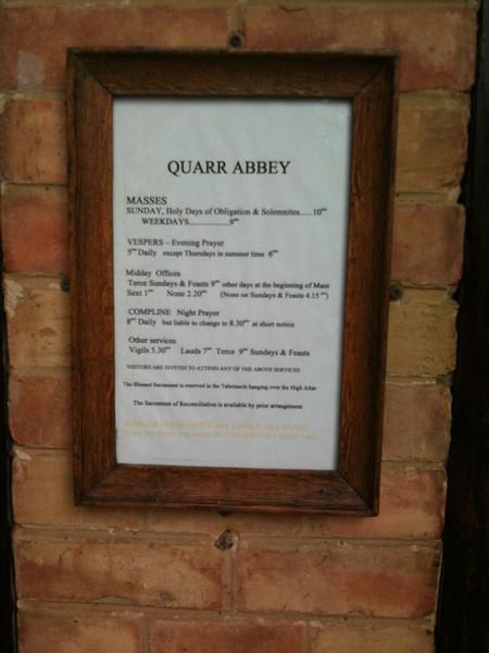 Abbey Prayer Times