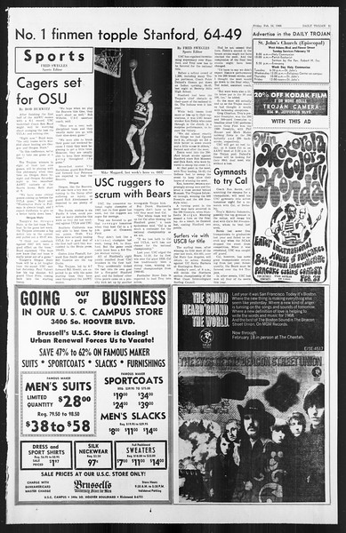 Daily Trojan, Vol. 59, No. 72, February 16, 1968