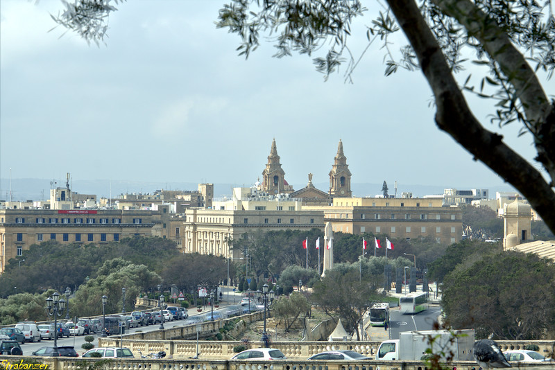 Valletta, Malta.   View towards St Publius Church      03/23/2019 This work is licensed under a Creative Commons Attribution- NonCommercial 4.0 International License