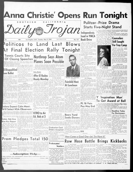 Daily Trojan, Vol. 40, No. 131, May 03, 1949