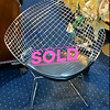 Lattice-Back Metal Accent Chair