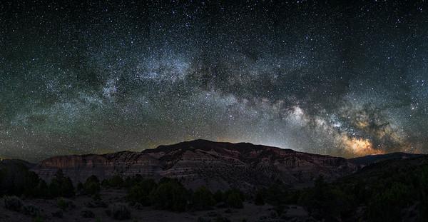 Blowout Hill Milkyway near Gypsum, Colorado