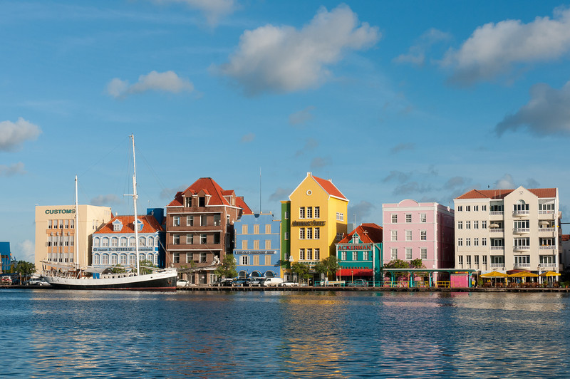 Downtown historica Willemstad, Curacao