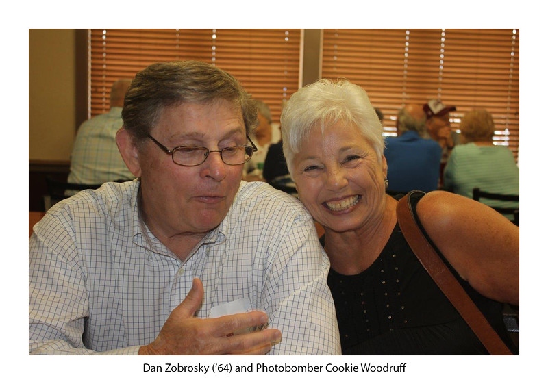 Dan Zobrosky '64 (photobomber, Cookie Woodruff).jpg
